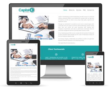 Capital E Bookkeeping Website