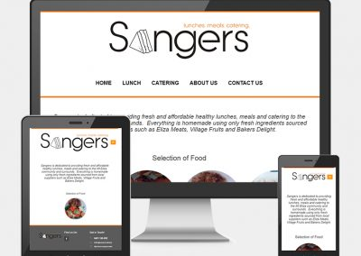 Sangers Catering Website Project